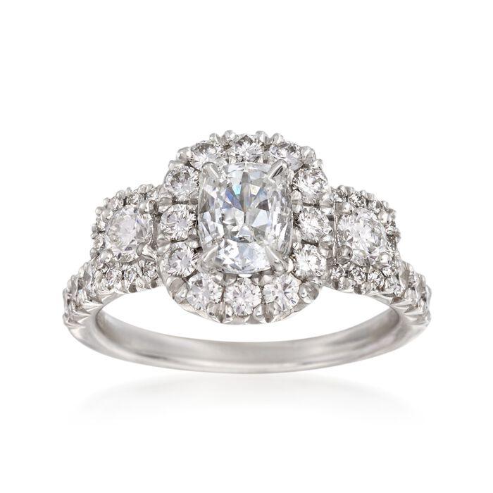 Henri Daussi 1.87 ct. t.w. Certified Diamond Ring in 18kt White Gold, , default