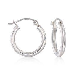 """2mm Sterling Silver Hoop Earrings. 5/8"""", , default"""