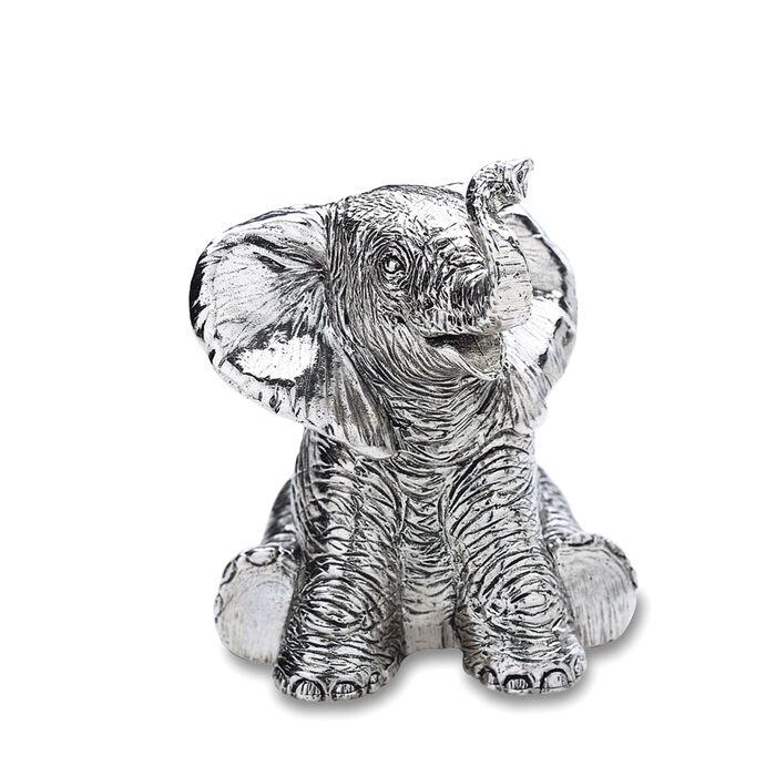 Reed & Barton Baby Elephant Music Box, , default