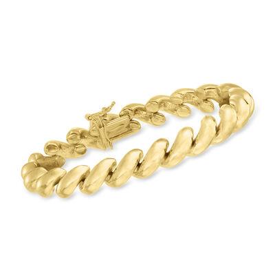 Italian 18kt Gold Over Sterling San Marco Bracelet