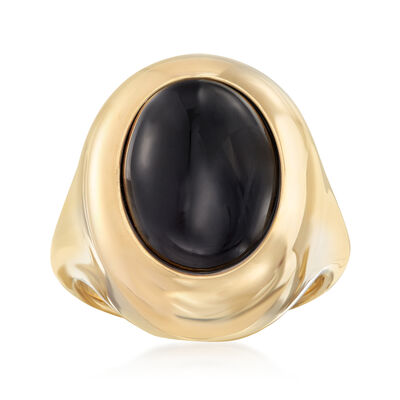 Andiamo 14kt Yellow Gold and Black Onyx Ring