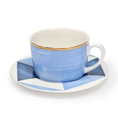 "Lenox and Luca Andrisani ""Blue Azzurro"" Porcelain Cup and Saucer, , default"