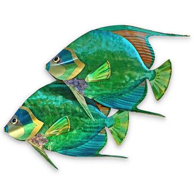 T.I. Design Stainless Steel Queen Angelfish Pair Wall Art, , default