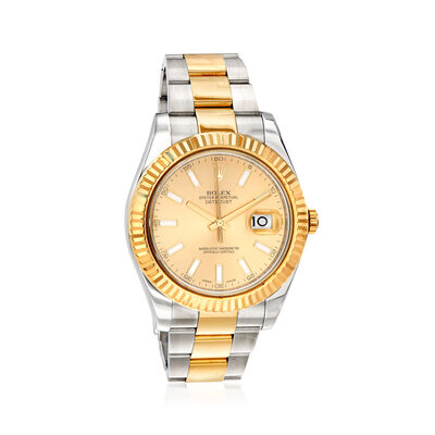 Pre-Owned Rolex Datejust II Men's 41mm Automatic Stainless Steel and 18kt Yellow Gold Watch