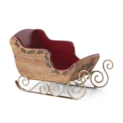 "Lenox ""Hosting the Holidays"" Sleigh Serving Centerpiece, , default"
