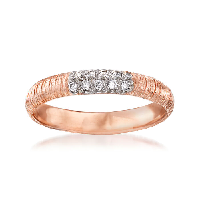 .10 ct. t.w. Pave Diamond Ring in 14kt Rose Gold, , default
