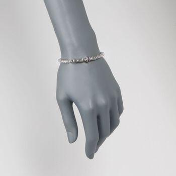 """Phillip Gavriel """"Popcorn"""" .40 ct. t.w. Amethyst Bracelet in Sterling Silver. 7"""""""