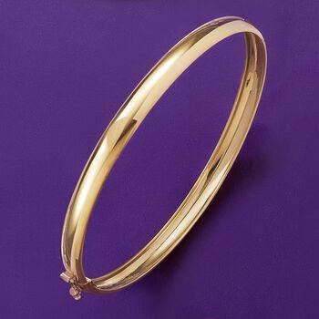 Italian 14kt Yellow Gold Bangle Bracelet