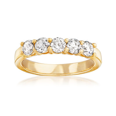 1.00 ct. t.w. Diamond Five-Stone Ring in 14kt Yellow Gold