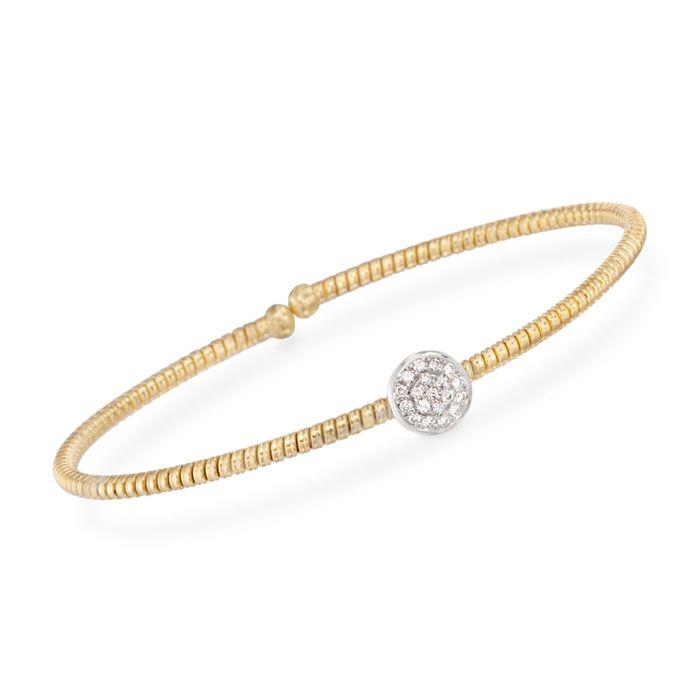 "Simon G. .15 ct. t.w. Diamond Circle Bracelet in 18kt Yellow Gold. 7"""