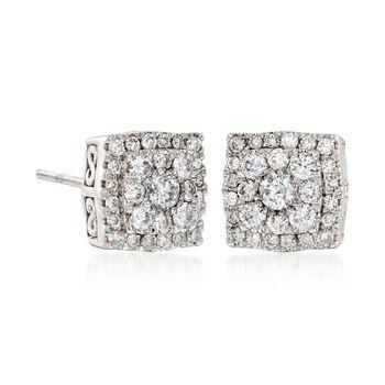 Gregg Ruth .55 ct. t.w. Diamond Earrings in 18kt White Gold