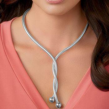 Italian Sterling Silver Flexible Four-In-One Necklace/Bracelet , , default