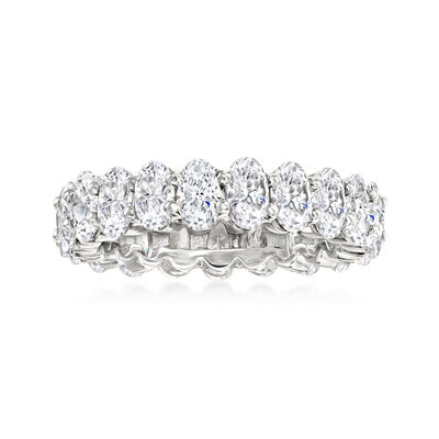 5.50 ct. t.w. CZ Eternity Ring in Sterling Silver