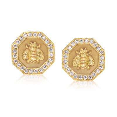 Mazza .72 ct. t.w. Diamond Bumble Bee Earrings in 14kt Yellow Gold, , default