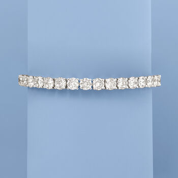 23.00 ct. t.w. CZ Tennis Bracelet in Sterling Silver