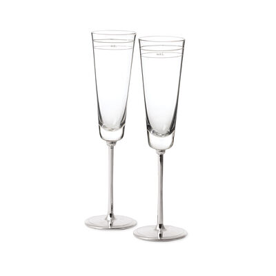 "Kate Spade New York ""Darling Point"" 2-pc Glass Champagne Flute Set, , default"