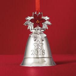 Lenox 2018 Annual Silver Plate Musical Bell Ornament - 42nd Edition, , default
