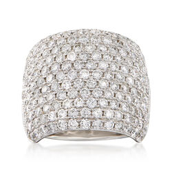 4.70 ct. t.w. Diamond Wide Ring in 18kt White Gold, , default