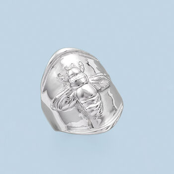 Italian Sterling Silver Bee Ring