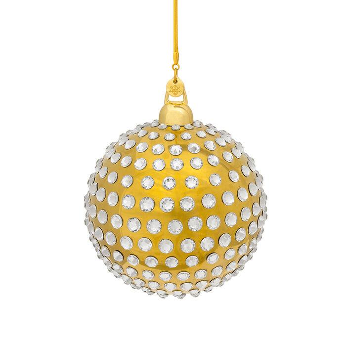 Crystamas Xirius Swarovski Crystal Gold-Style Ball Ornament, , default