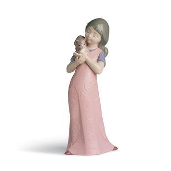 "Nao ""Kitty Cuddles"" Porcelain Figurine, , default"