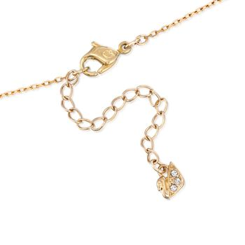 """Swarovski Crystal """"Lovely"""" Clear Crystal Open-Space Heart Necklace in Gold Plate. 16.5"""", , default"""