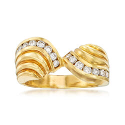 C. 1980 Vintage .80 ct. t.w. Diamond Ring in 18kt Yellow Gold, , default