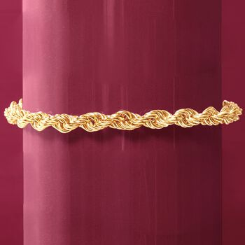 4.5mm 18kt Yellow Gold Rope Chain Bracelet, , default