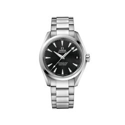 Omega Seamaster Aqua Terra 38.5mm Stainless Steel Watch With Black Dial , , default