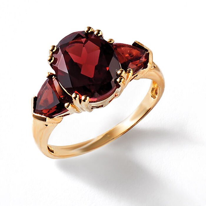 5.20 ct. t.w. Garnet Ring in 14kt Yellow Gold