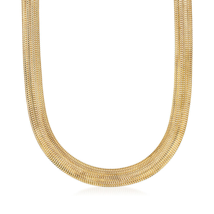14kt Yellow Gold Wide-Link Necklace, , default