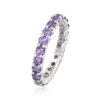 2.00 ct. t.w. Amethyst Eternity Band in Sterling Silver, , default