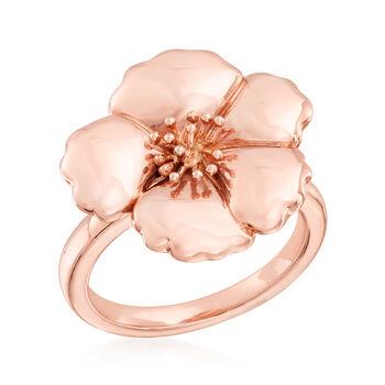 14kt Rose Gold Flower Ring. Size 5