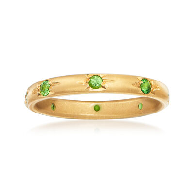 Mazza .30 ct. t.w. Tsavorite Eternity Band in 14kt Yellow Gold, , default