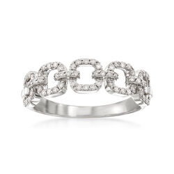 .33 ct. t.w. Diamond Link Ring in 14kt White Gold, , default
