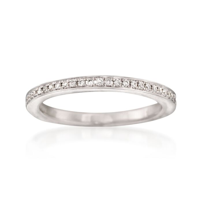 Henri Daussi .15 ct. t.w. Diamond Wedding Ring in 14kt White Gold, , default