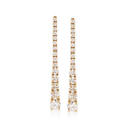 .32 ct. t.w. Diamond Triangle Drop Earrings in 14kt Yellow Gold, , default