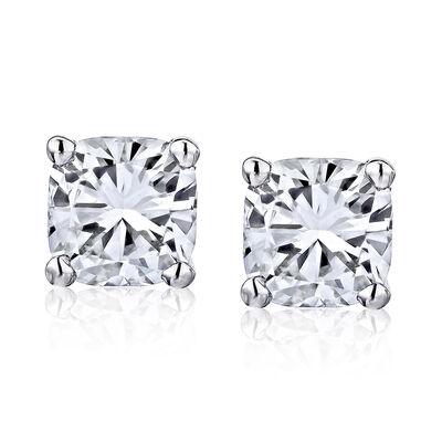 .95 ct. t.w. Diamond Stud Earrings in 14kt White Gold, , default