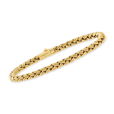 C. 1980 Vintage Tiffany Jewelry 18kt Yellow Gold Wheat-Link Bracelet, , default