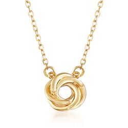 "Italian 14kt Yellow Gold Swirl Necklace. 18"", , default"