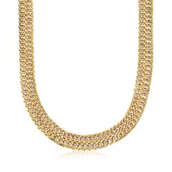 14kt Yellow Gold Double-Row Curb-Link Necklace, , default
