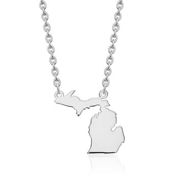 Sterling Silver U.S. State Necklace