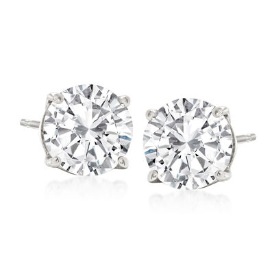 2.40 ct. t.w. Diamond Stud Earrings in Platinum
