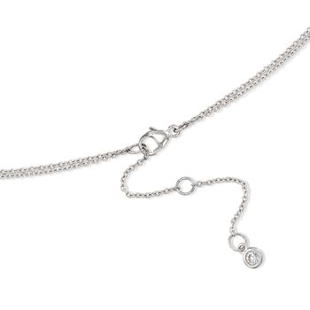 """1.45 ct. t.w. Bezel-Set CZ Layered Necklace in Sterling Silver. 16"""""""