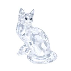 "Swarovski Crystal ""Maine Coon Cat"" Figurine, , default"