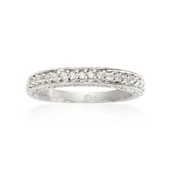 Gabriel Designs .45 ct. t.w. Diamond Wedding Ring in 14kt White Gold, , default