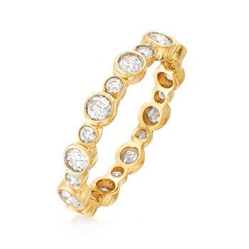 1.00 ct. t.w. Bezel-Set Diamond Eternity Band in 14kt Yellow Gold