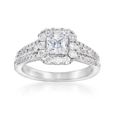 .71 ct. t.w. Diamond Engagement Ring Setting in 14kt White Gold, , default