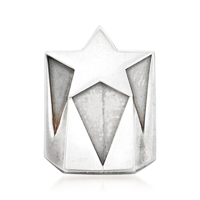 C. 1970 Vintage Tiffany Jewelry Star Lapel Pin in Sterling Silver, , default