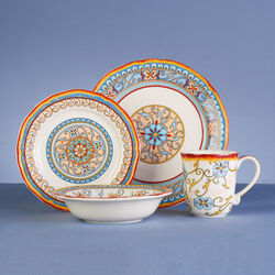 Duomo Stoneware 16-pc. Service for 4 Dinnerware Set, , default